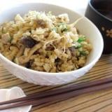 ぱぱっと玄米で 炊き込みご飯~玄米が苦手な方も食べられるかも‥しれない!~